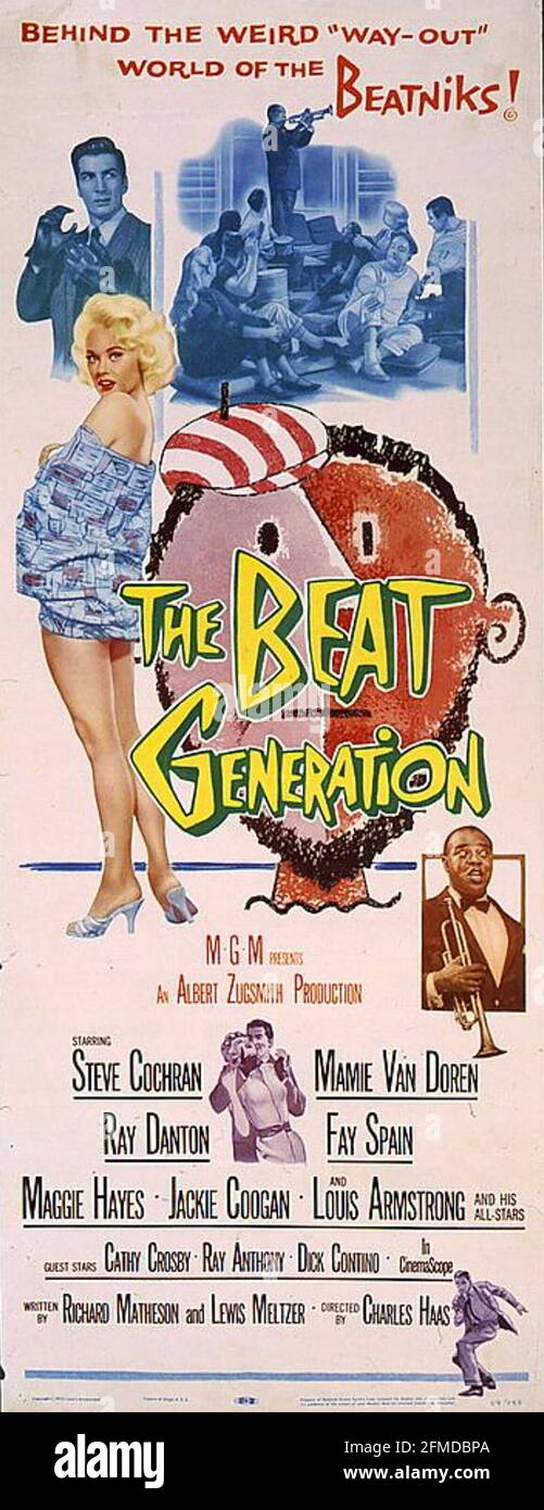 LE FILM MGM de LA GÉNÉRATION 1959 DE BEAT avec Mamie Van Doren Et Steve Cochran Banque D'Images
