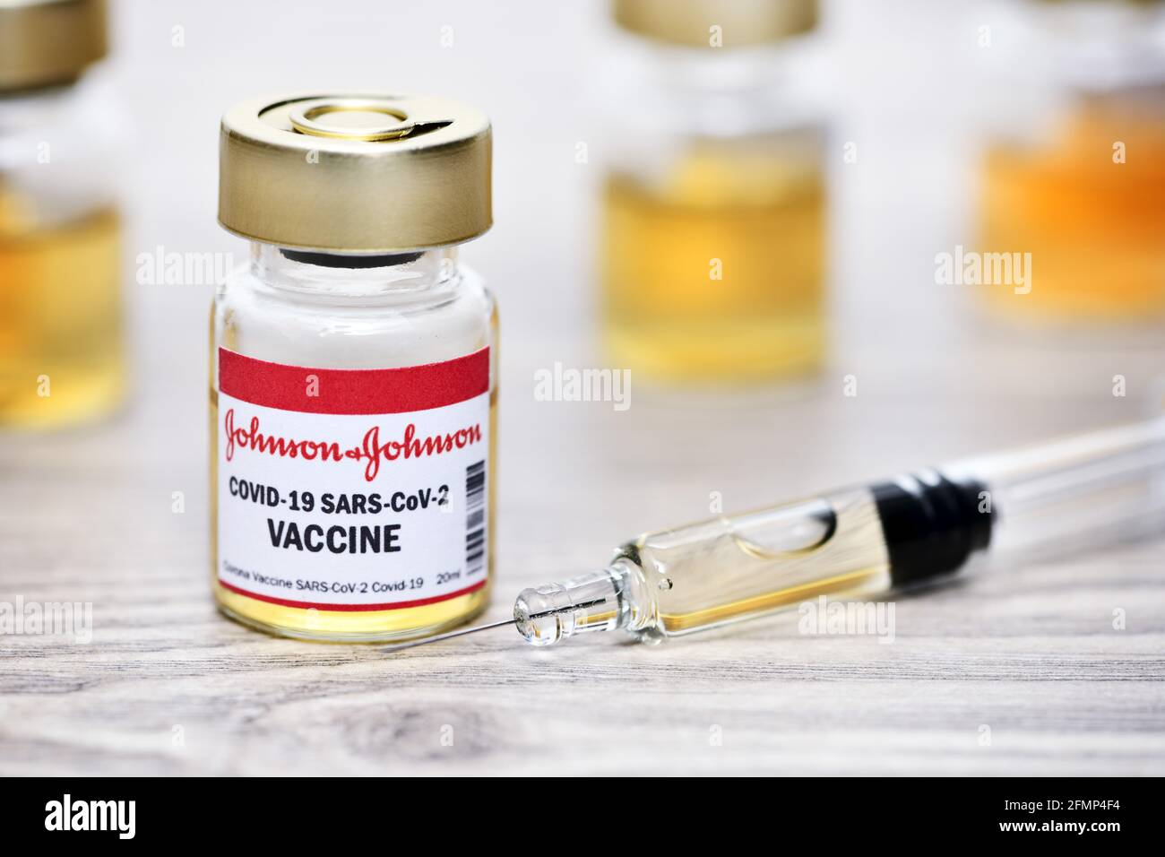 Covid Vaccine of Johnson and Johnson, image symbolique Banque D'Images