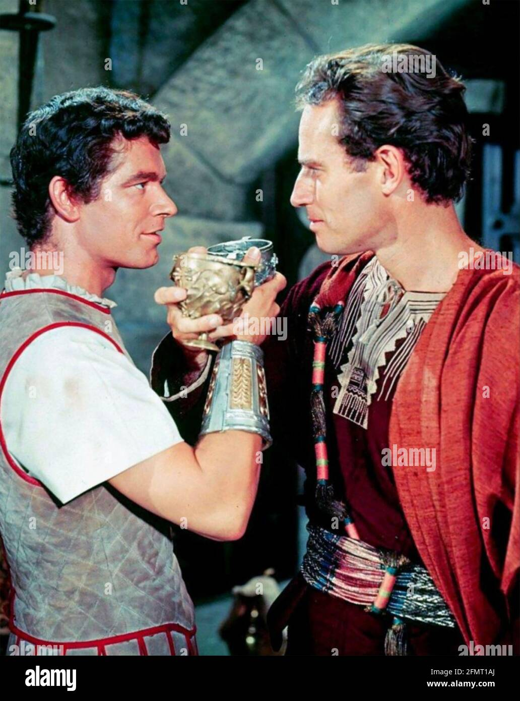 BEN-HUR 1959 film MGM avec Charlton Heston et Stephen Boyd Banque D'Images