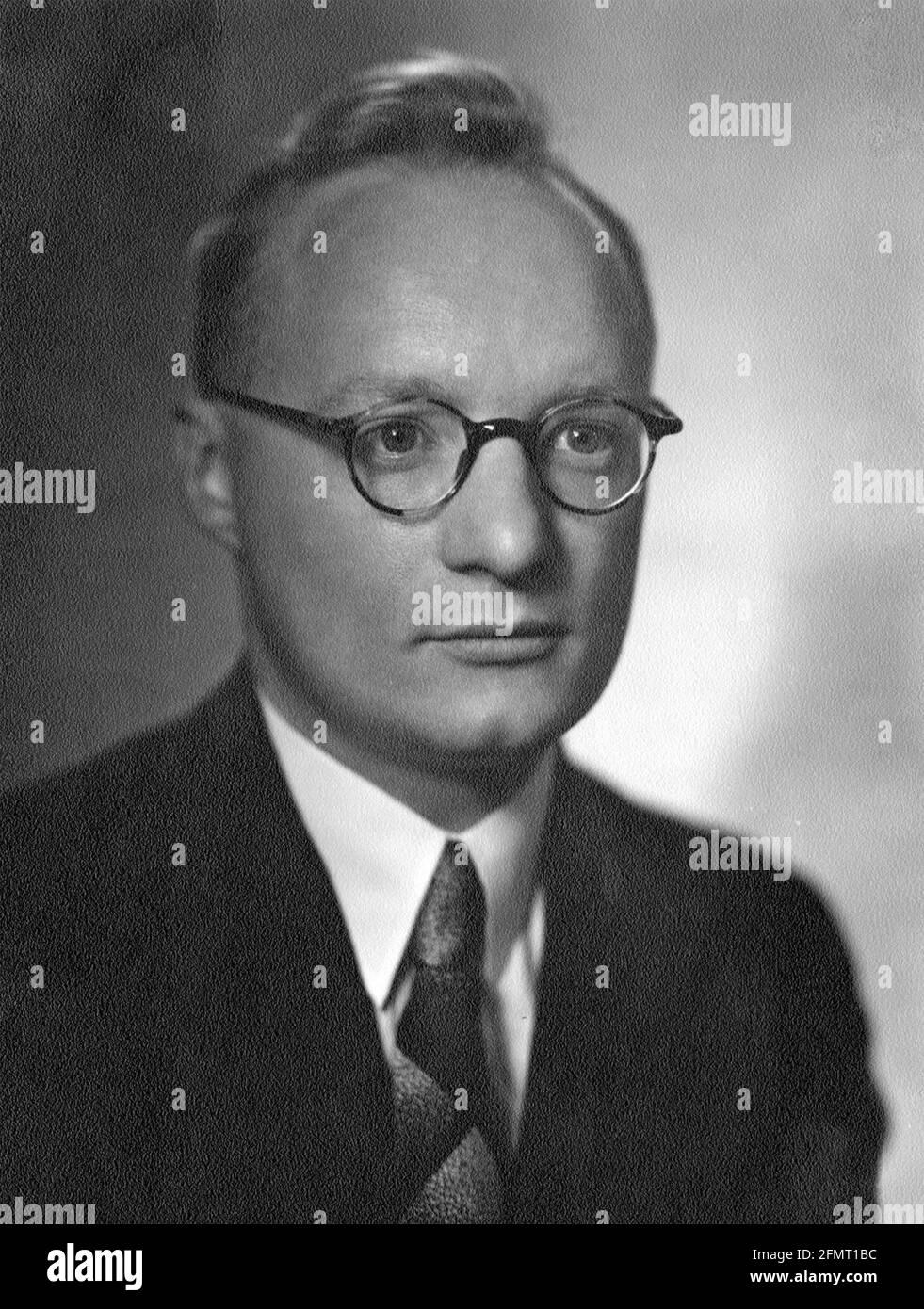 BODO von BORRIES (1905-1956) Allemagne physicien et co-inventeur du microscope électronique Banque D'Images