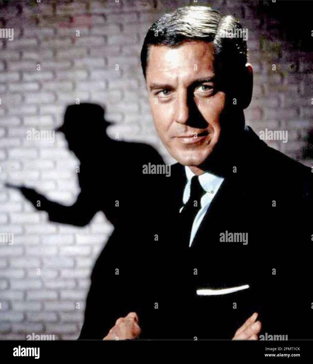 CRAIG STEVENS (1918-2000) acteur de cinéma et de télévision américain le plus connu Pour son rôle TV en tant que détective privé Peter Gunn Banque D'Images