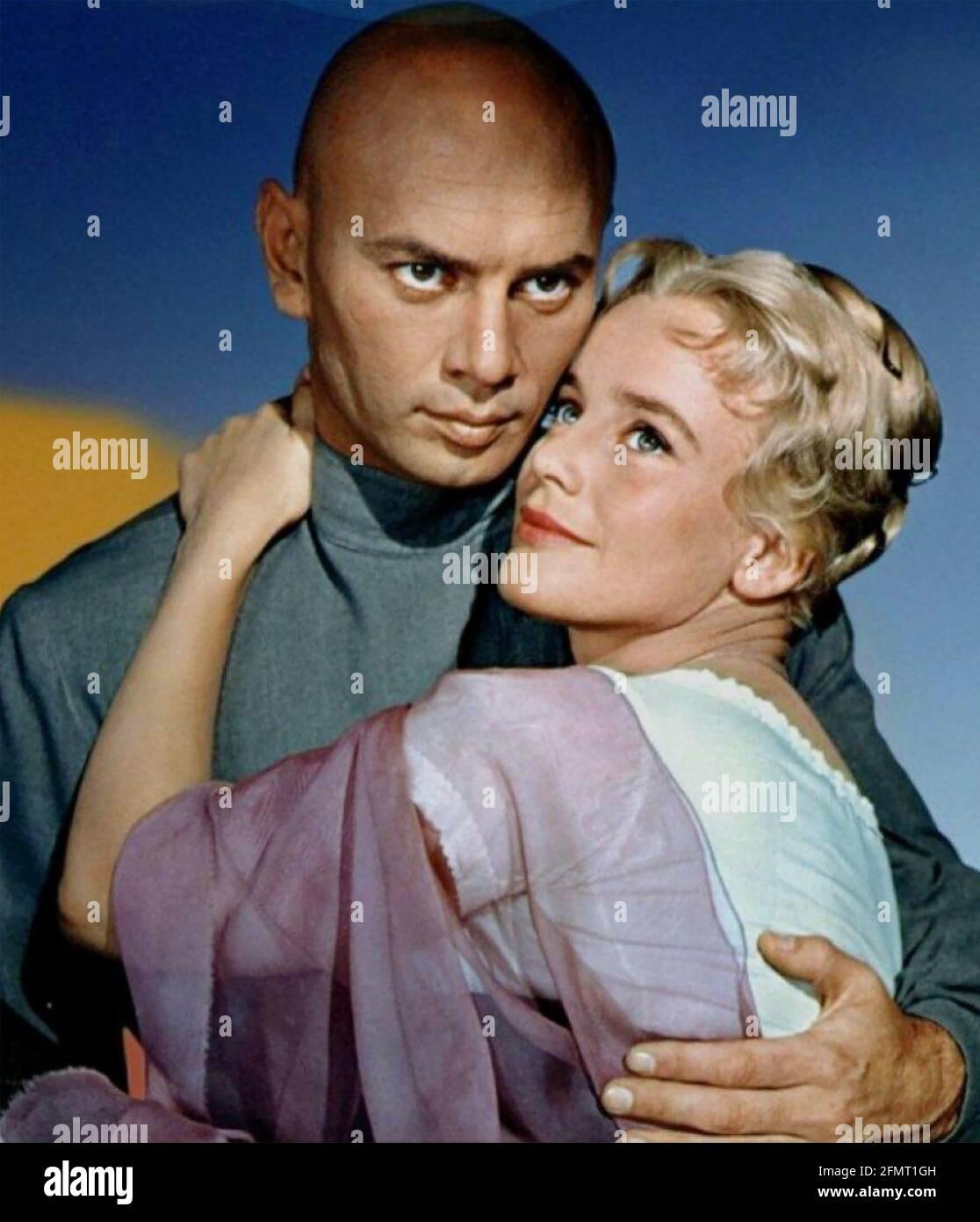 LES FRÈRES KARAMAZOV 1958 MGM film avec YUL Brynner AS Dimitri et Maria Schell comme Grushenka Banque D'Images