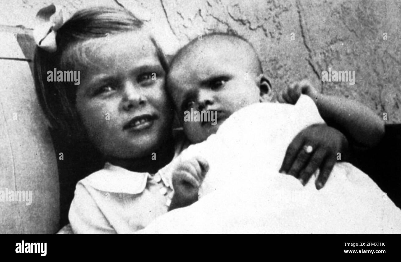 Kelly, Grace, 12.11.1929 - 14.9.1982, actrice américaine, portrait, À l'âge de 4 ans, DES INFORMATIONS-SUPPLÉMENTAIRES-DROITS-AUTORISATION-NON-DISPONIBLES Banque D'Images
