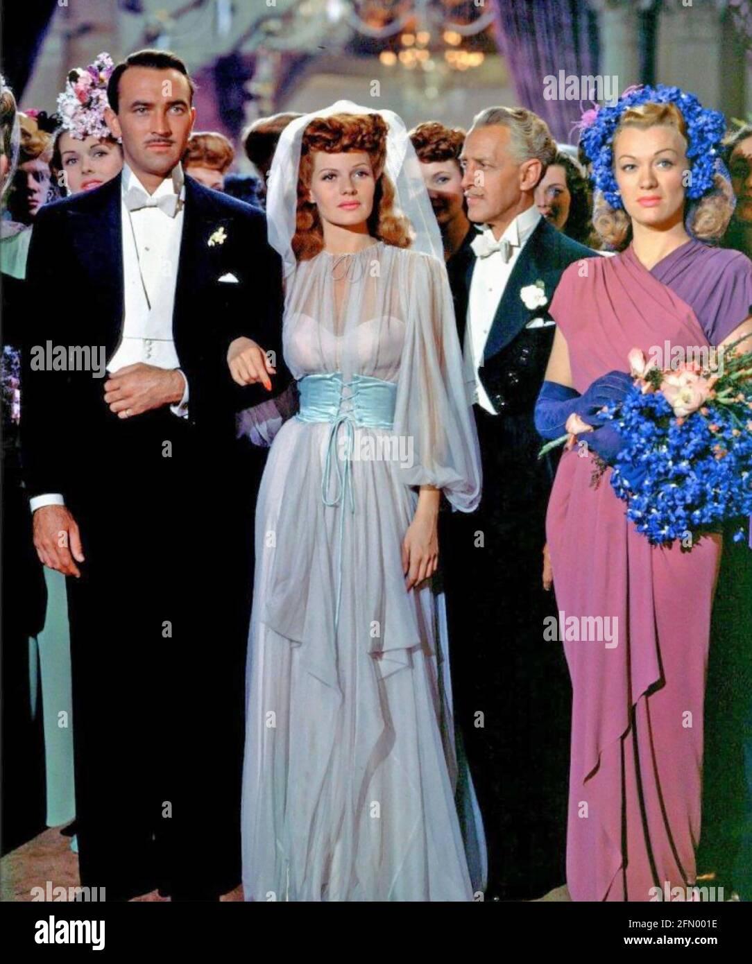 COVER GIRL 1944 Columbia Pictures film avec de gauche: Lee Bowman, Rita Hayworth, Otto Kruger, Eve Arden. Banque D'Images