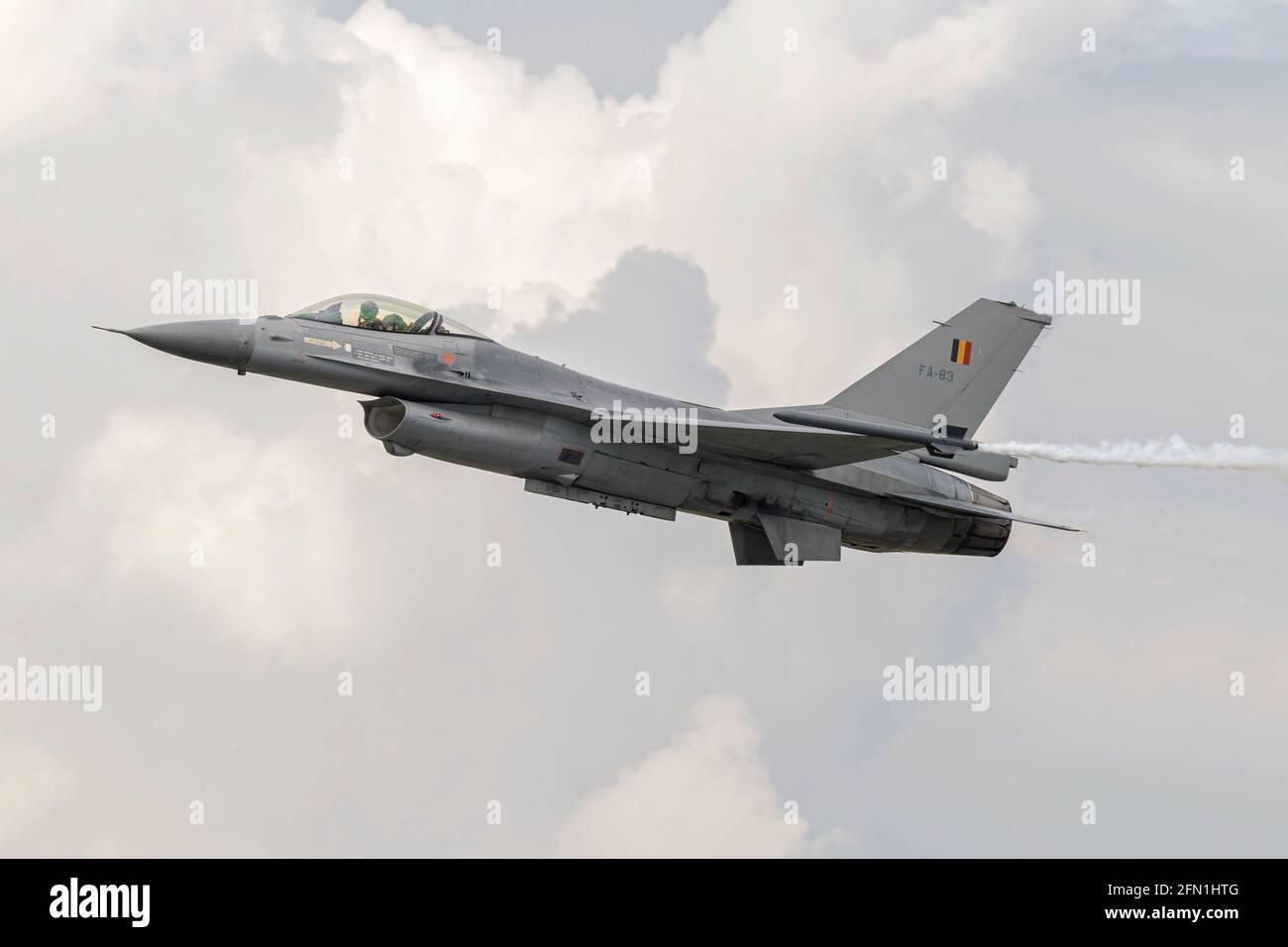 F16 Faucon de combat de l'armée de l'air belge Banque D'Images