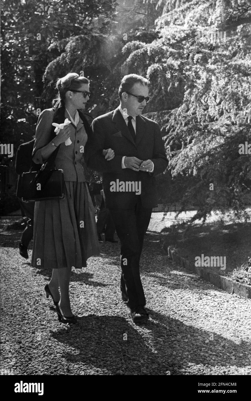 Kelly, Grace, 12.11.1929 -, 14.9.1982, actrice américaine, Avec le Prince Rainier III, de Monaco, DES DROITS supplémentaires-AUTORISATION-INFO-NON-DISPONIBLES Banque D'Images
