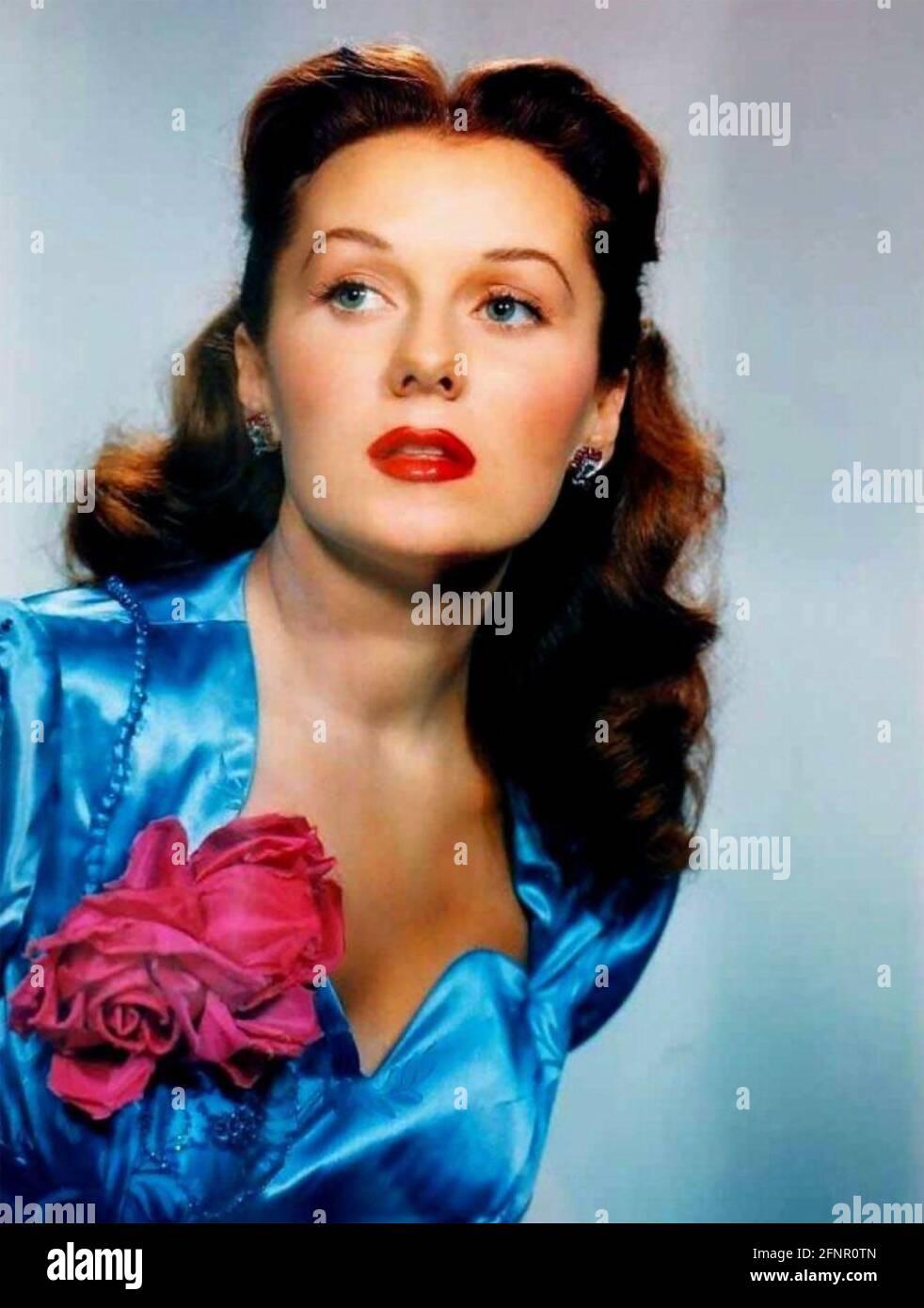 RHONDA FLEMING (1923-2020) actrice et chanteuse américaine vers 1948 Banque D'Images