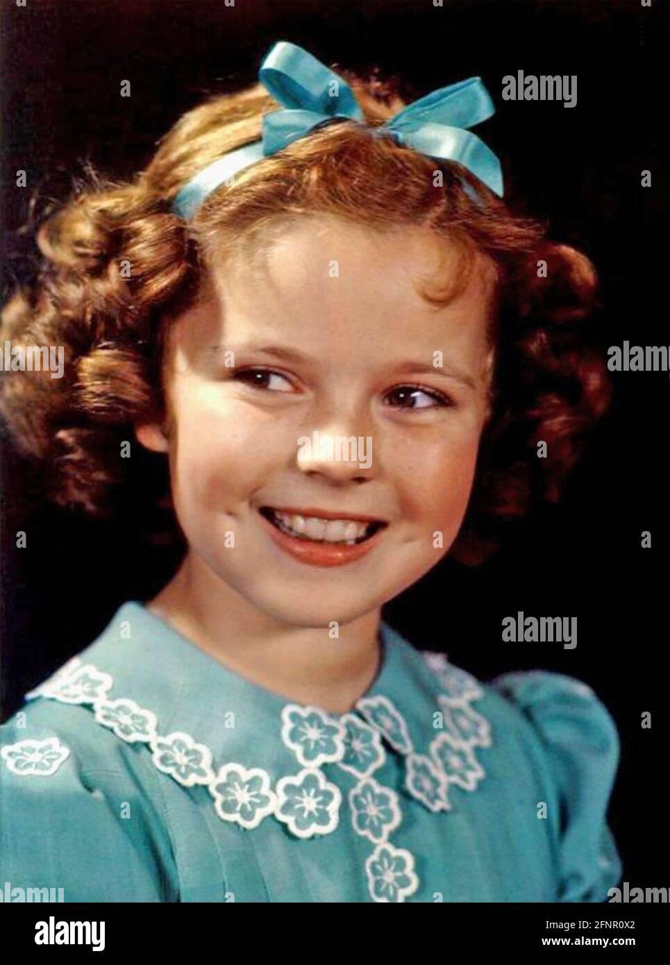 SHIRLEY TEMPLE (1928-2014) actrice américaine, plus tard diplomate, en 1938 Banque D'Images