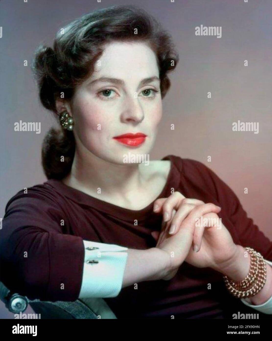 VIVECA LINDFORS (1920-1995) actrice suédoise-américaine vers 1960 Banque D'Images