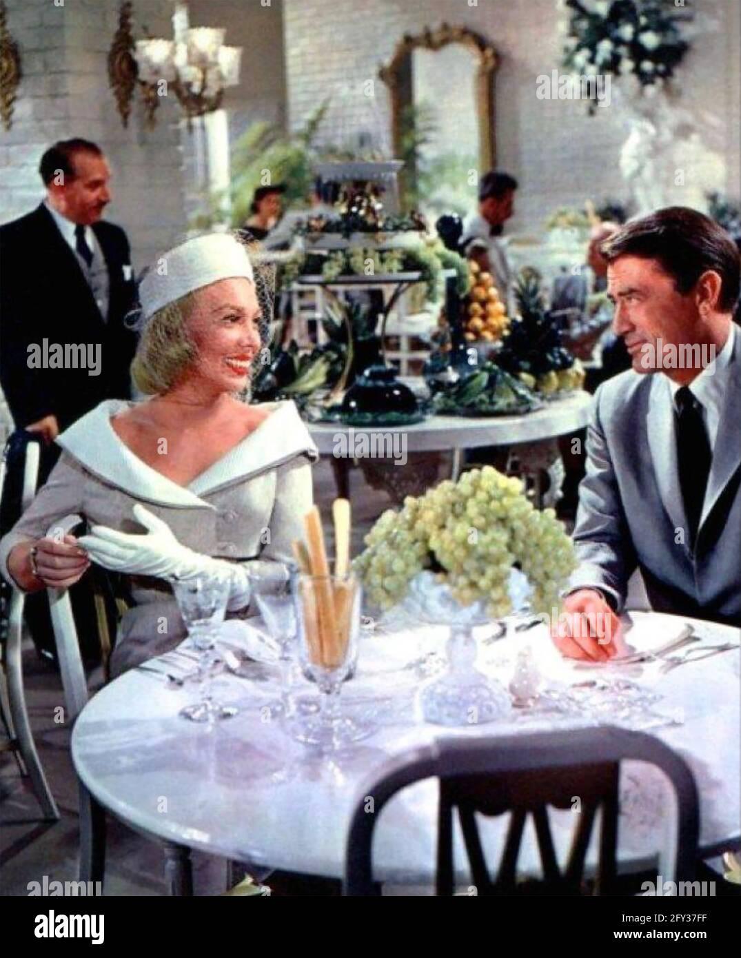CONCEVOIR LE film WOMAN 1957 MGM avec Dolores Gray et Gregory Peck Banque D'Images