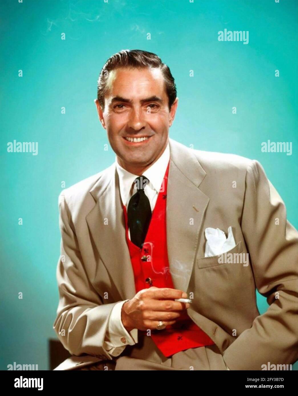 TYRONE POWER (1914-1958) acteur de cinéma américain vers 1945 Banque D'Images
