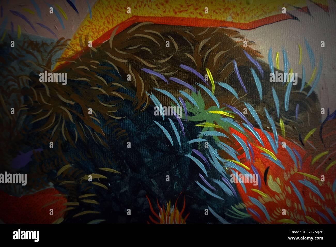Peinture Résumé couleur de l'huile arrière-plan , pinceau Banque D'Images