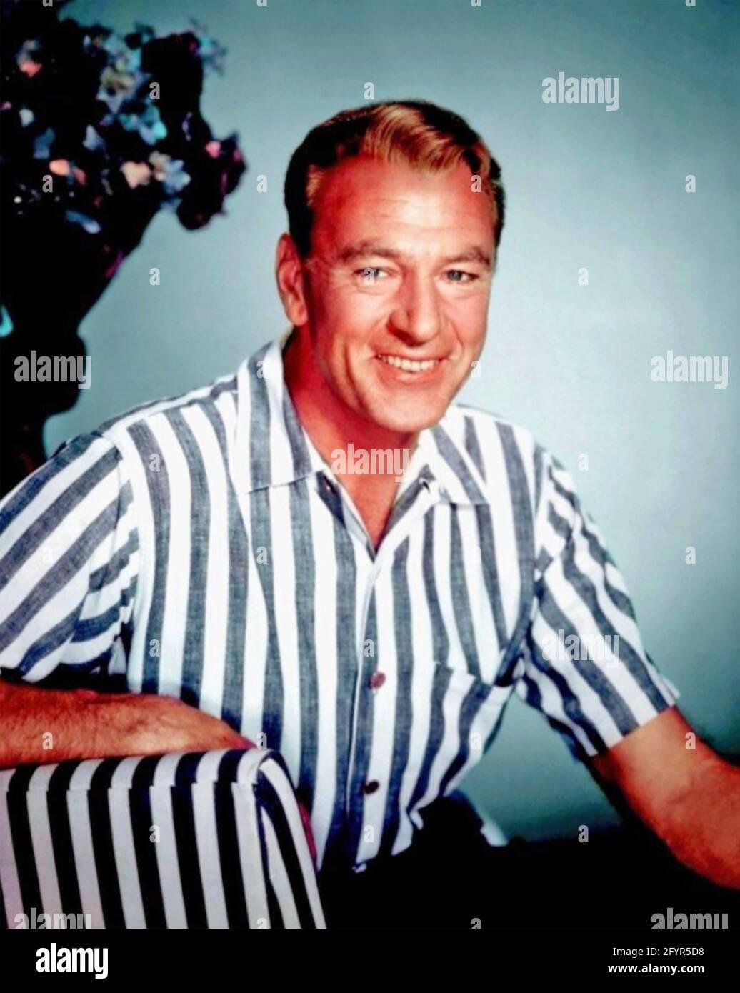 GARY COOPER (1901-1961) acteur de cinéma américain vers 1950 Banque D'Images