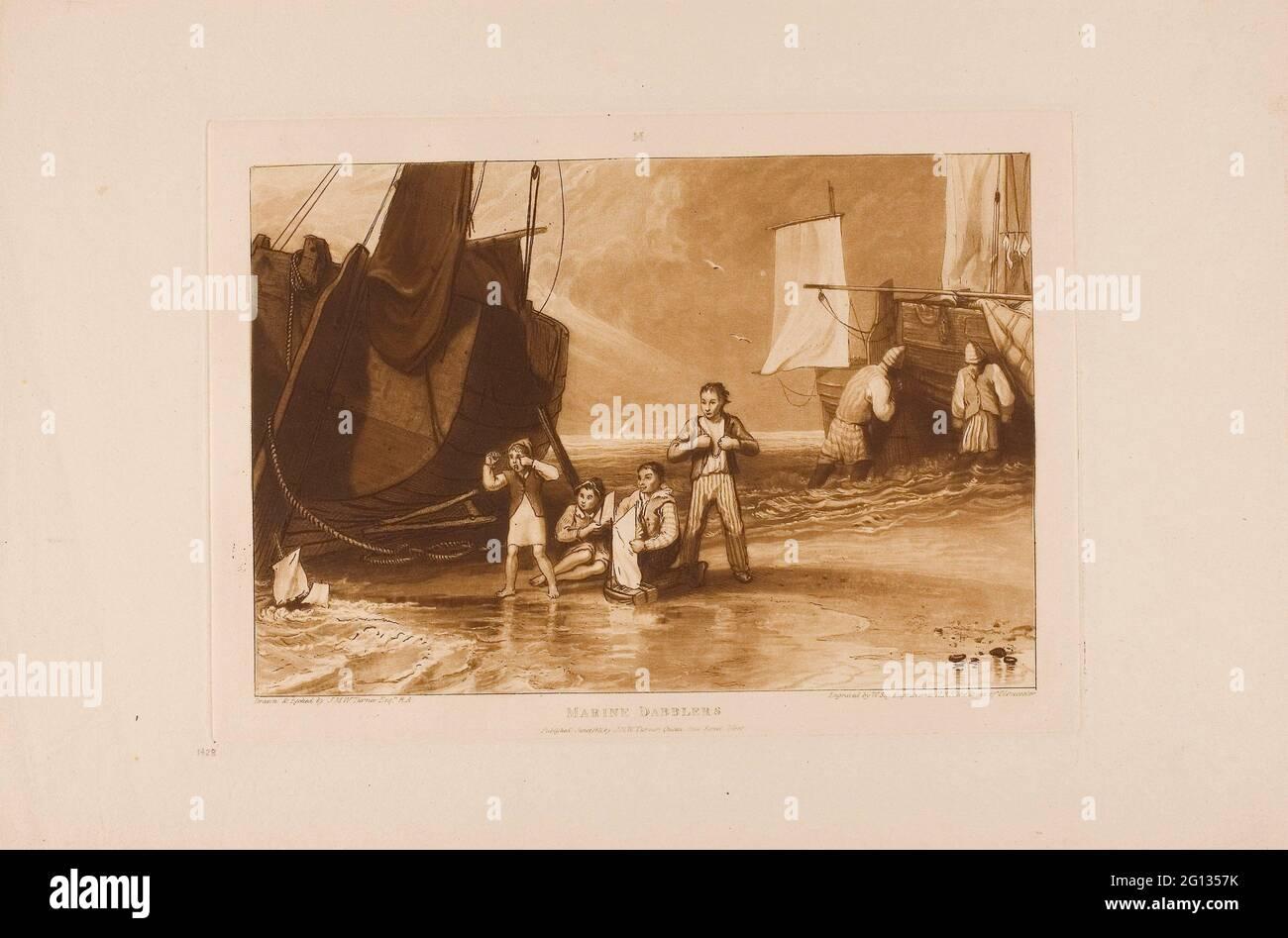 Auteur: Joseph Mallord William Turner. Dobiners marins, planche 29 de Liber Studiorum - publié en juin 1811 - Joseph Mallord William Turner (anglais, Banque D'Images