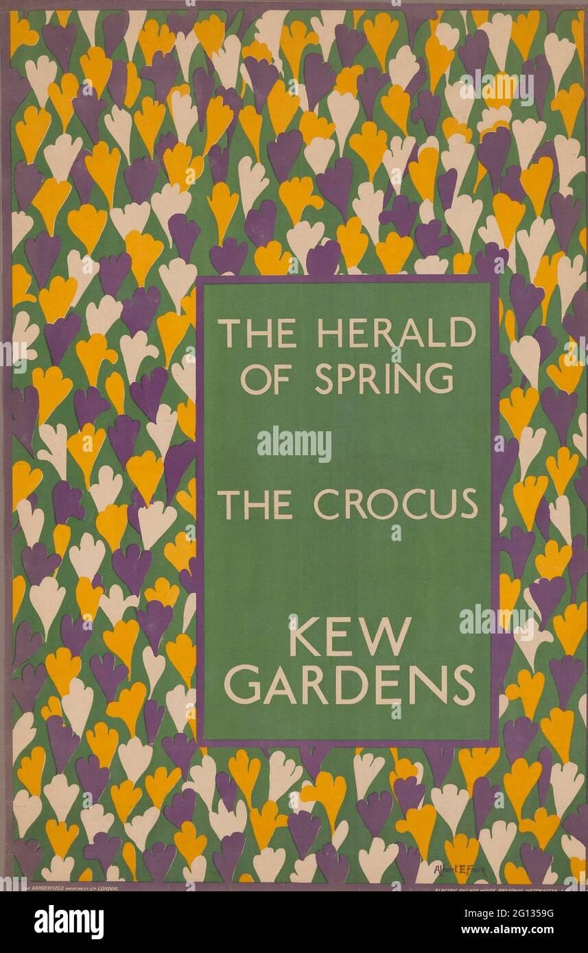 Auteur: Albert E. Fruin. The Herald of Spring: The Crocus, Kew Gardens - probablement 1920 - Albert E. Fruin (anglais, né en 1888) imprimé par Dangerfield Banque D'Images