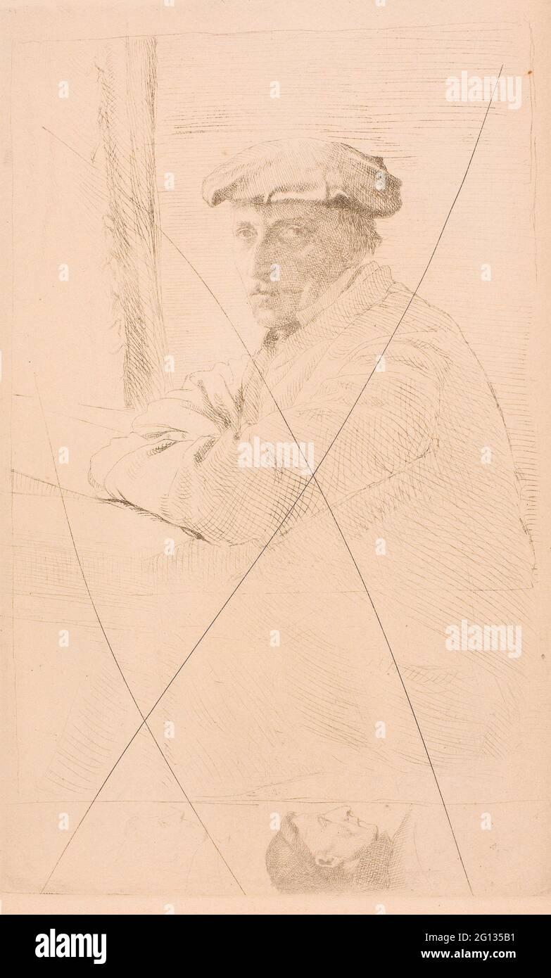 Auteur: Hilaire Germain Edgar Degas. The Engraver Joseph Tourny - 1857 - Edgar Degas French, 1834-1917. Gravure sur papier japonais crème (à partir de Banque D'Images