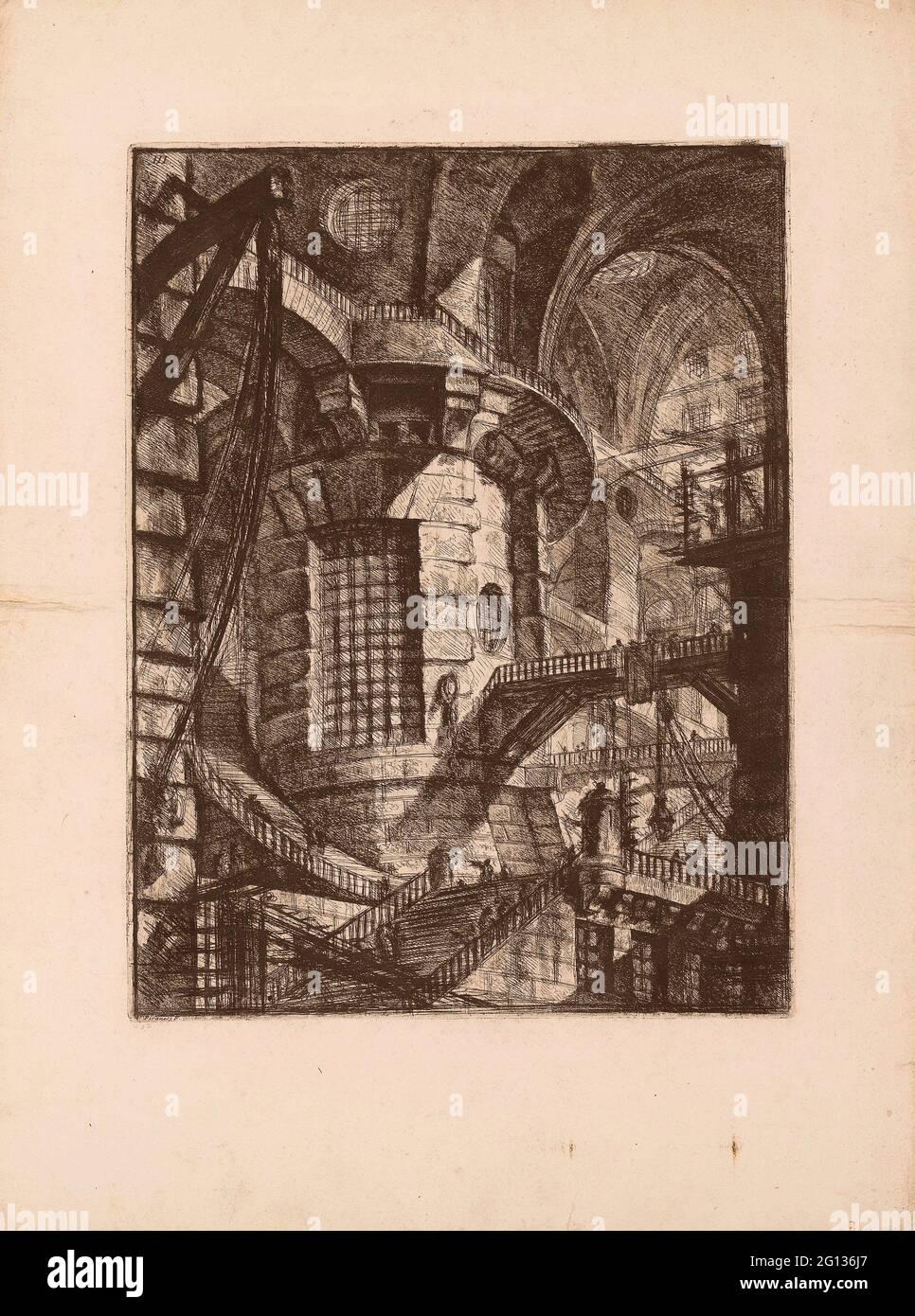 Auteur: Giovanni Battista Piranesi. La Tour ronde, plaque 3 des prisons imaginaires - 1761 - Giovanni Battista Piranesi Italien, 1720-1778. Gravure Banque D'Images