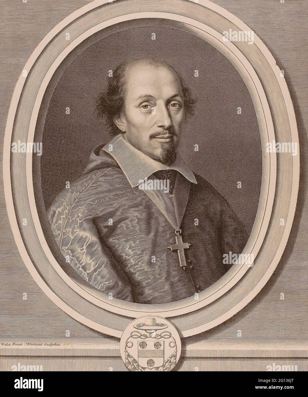 Auteur: Robert Nanteuil. Franois Mallier du Houssay - 1657 - Robert Nanteuil Français, 1623-1678. Gravure sur papier. France. Banque D'Images