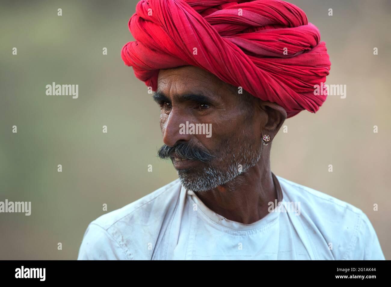 L'image de Berger ou de Rabari a été prise à Bera, Rajasthan, Inde, Asie Banque D'Images