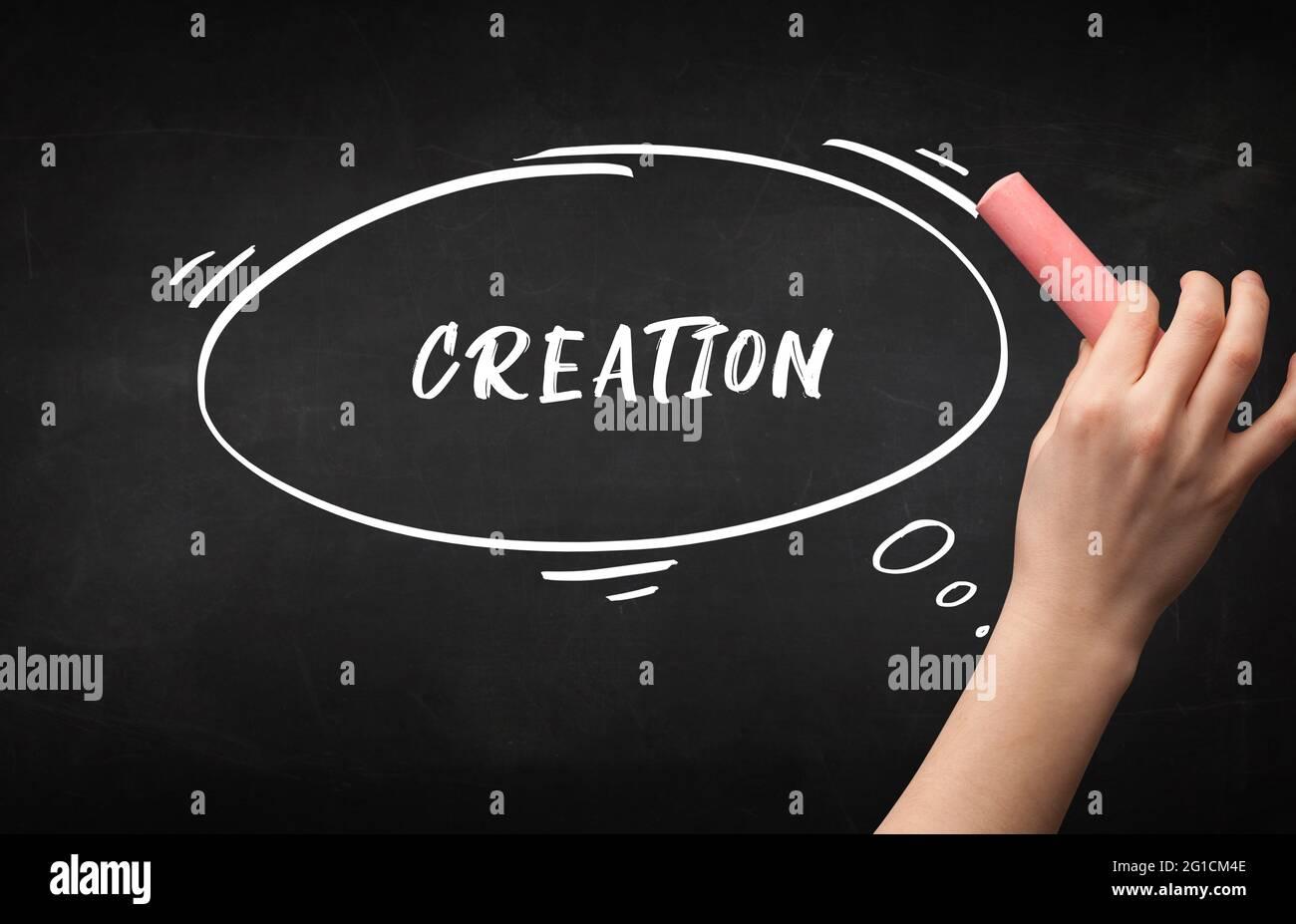 Concept d'éducation à la main Banque D'Images