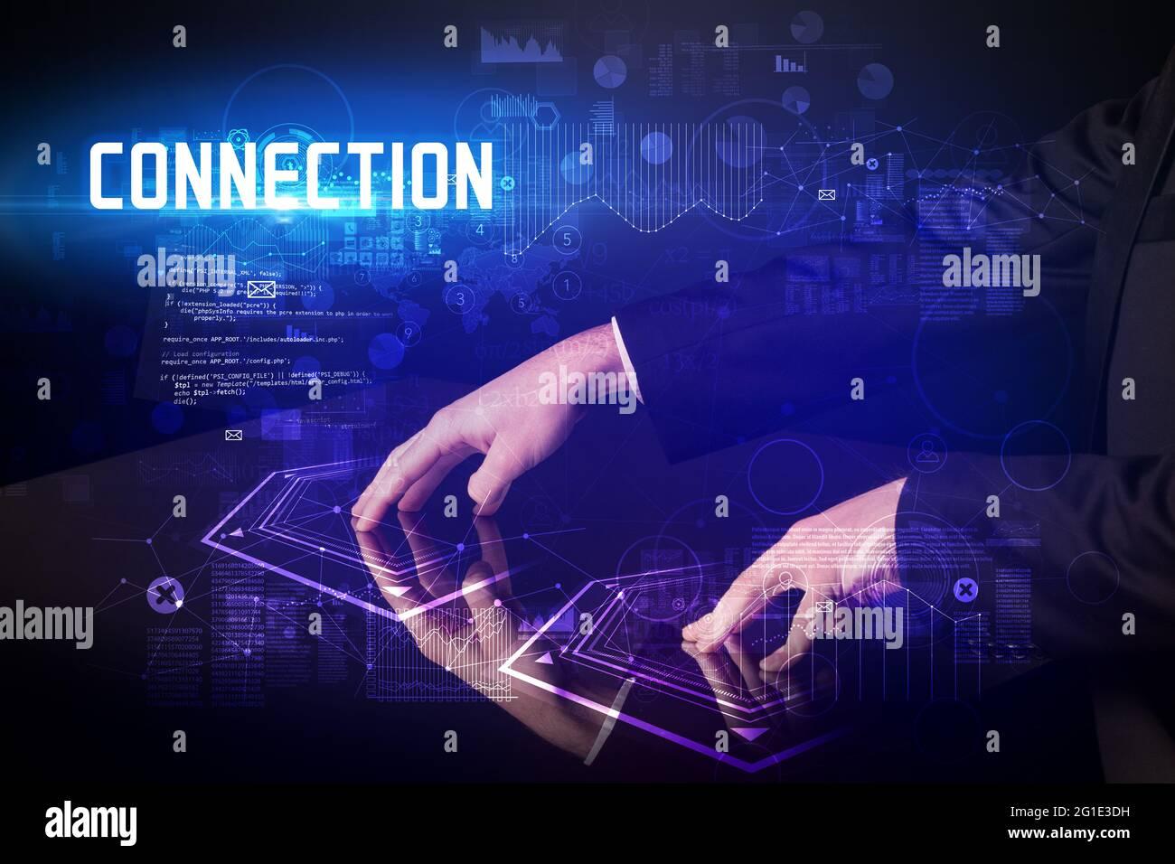 Concept de table numérique tactile Banque D'Images