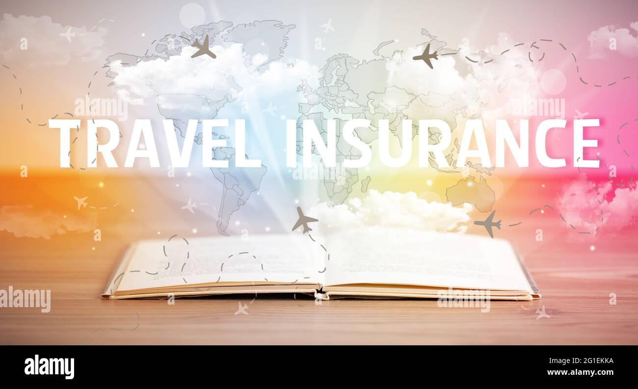 livre ouvert, concept de vacances Banque D'Images