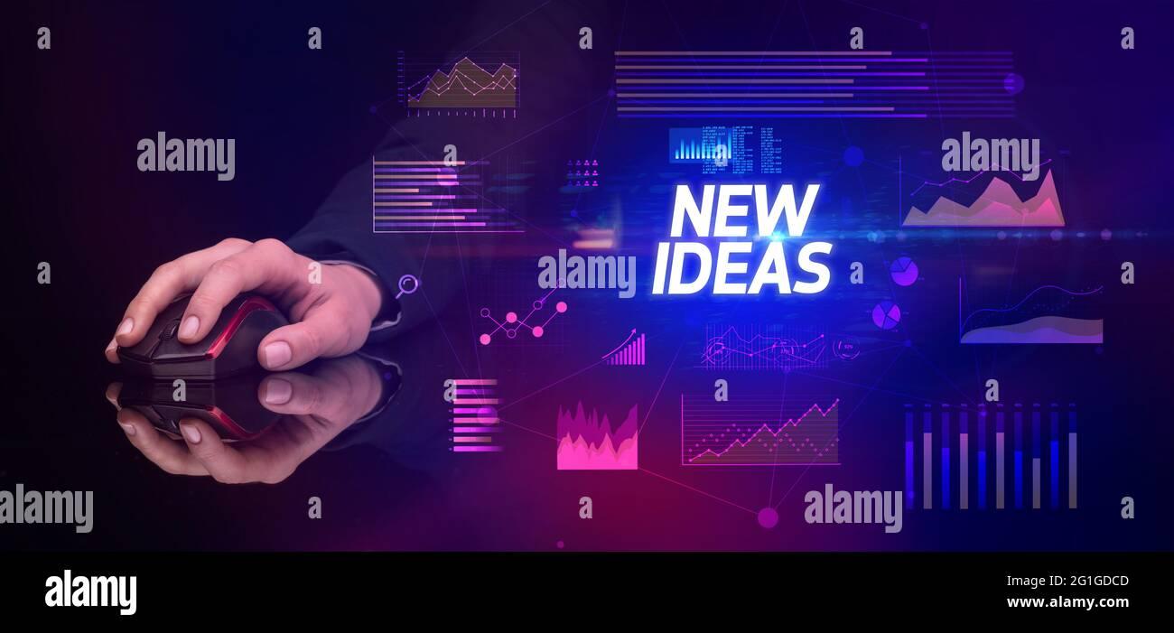 un périphérique sans fil, un concept de cyber-entreprise Banque D'Images