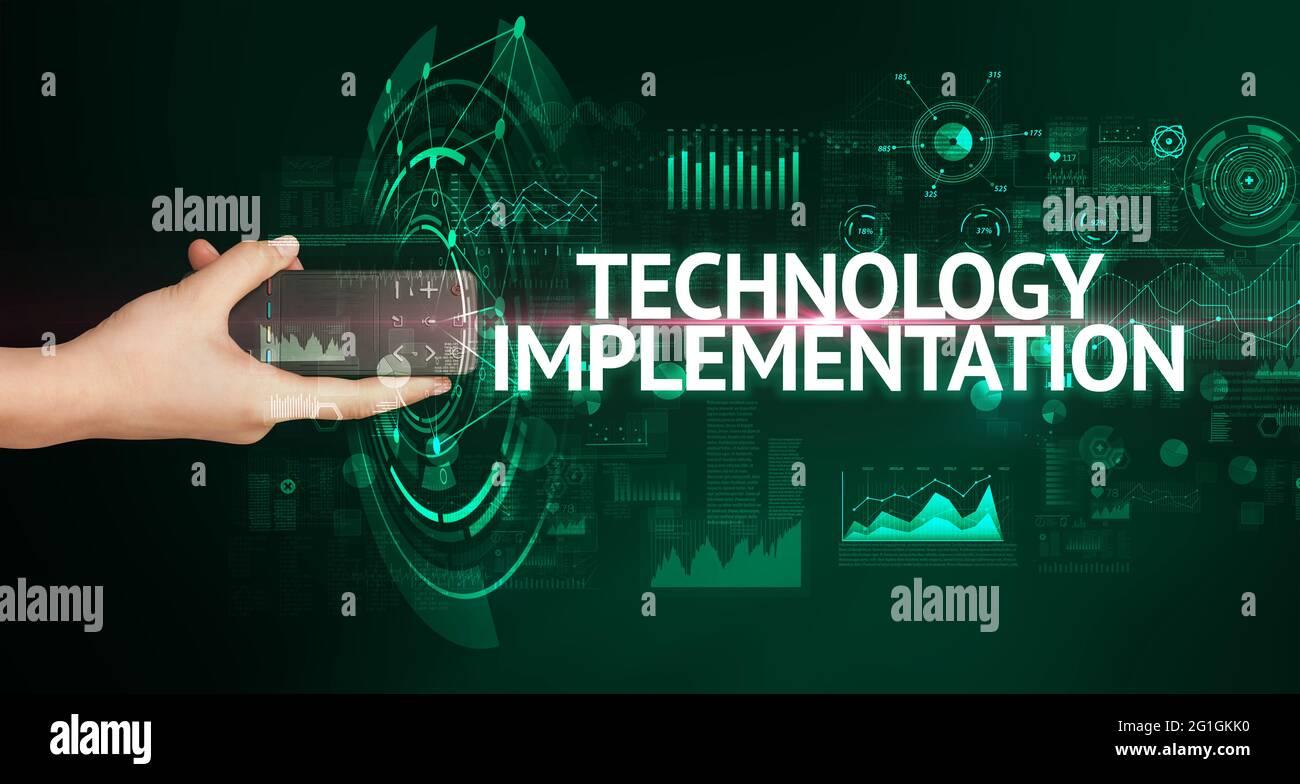 périphérique sans fil portable, concept de technologie moderne Banque D'Images