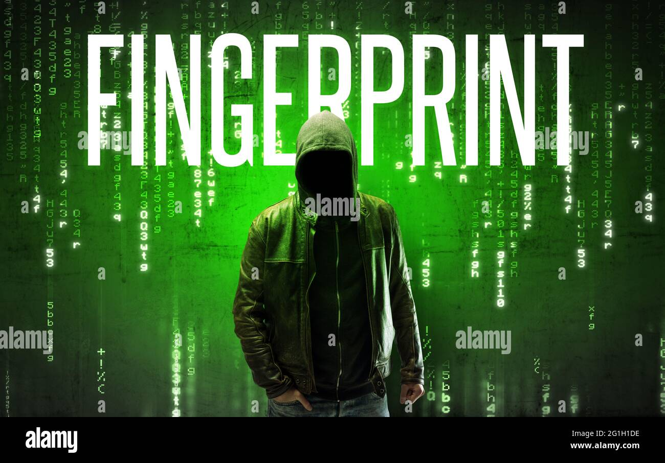 Hacker sans visage avec concept d'inscription Banque D'Images