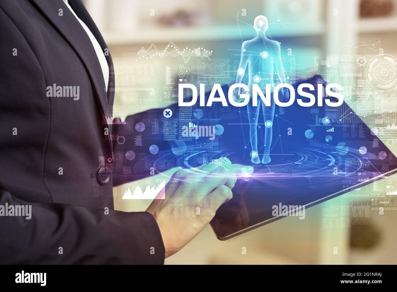 Dossier médical électronique, concept technologique Banque D'Images