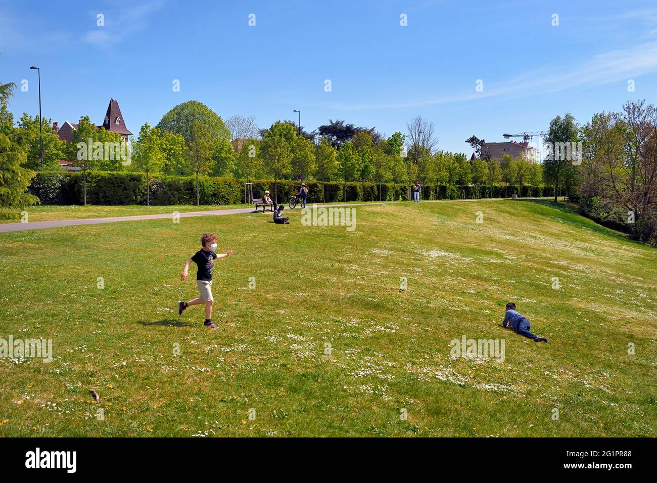 France, Val de Marne, Champigny sur Marne, parc du Tremblay Banque D'Images