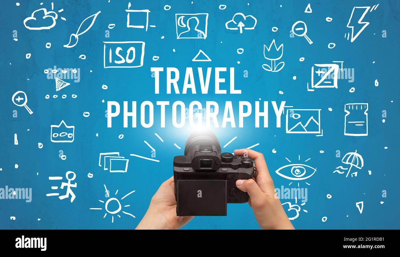 Prise de vue à la main avec un appareil photo numérique Banque D'Images
