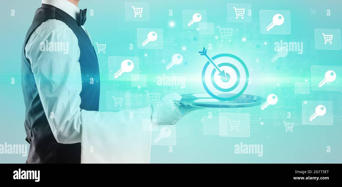 Concept d'idée d'entreprise de serveur Banque D'Images