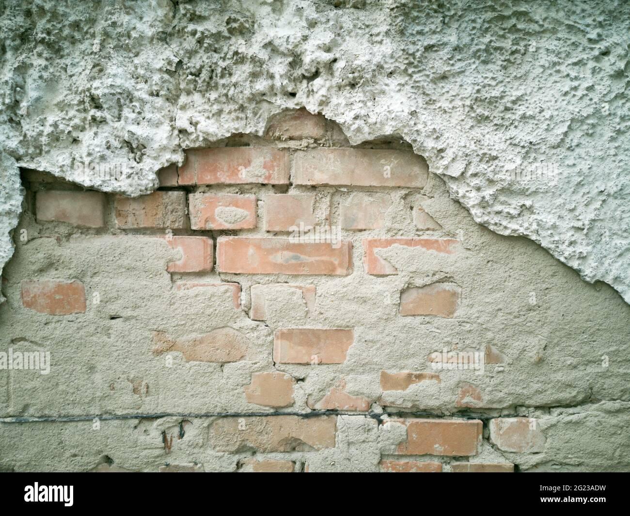 Vieux mur de briques Banque D'Images