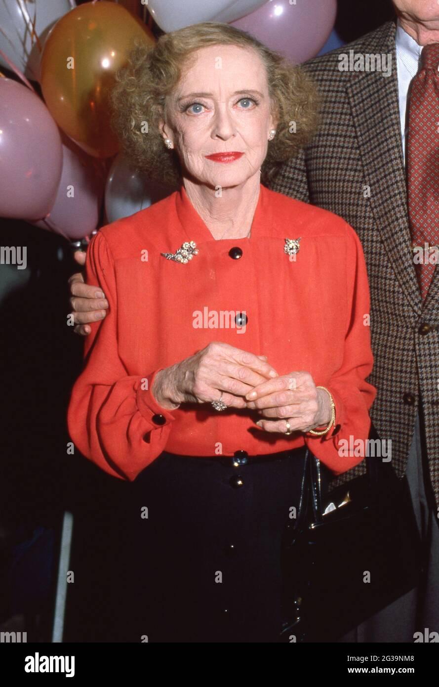 Bette Davis Circa années 1980 crédit: Ralph Dominguez/MediaPunch Banque D'Images