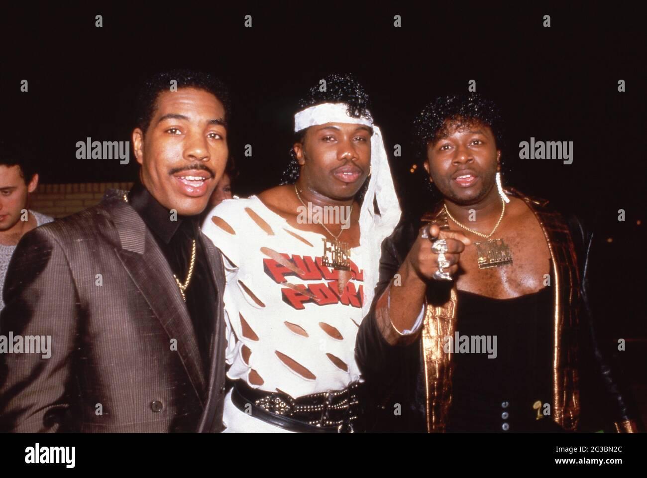 Oran 'Juice' Jones, Paul Anthony et Bowlegged Lou de Full Force Circa 1980 crédit: Ralph Dominguez/MediaPunch Banque D'Images
