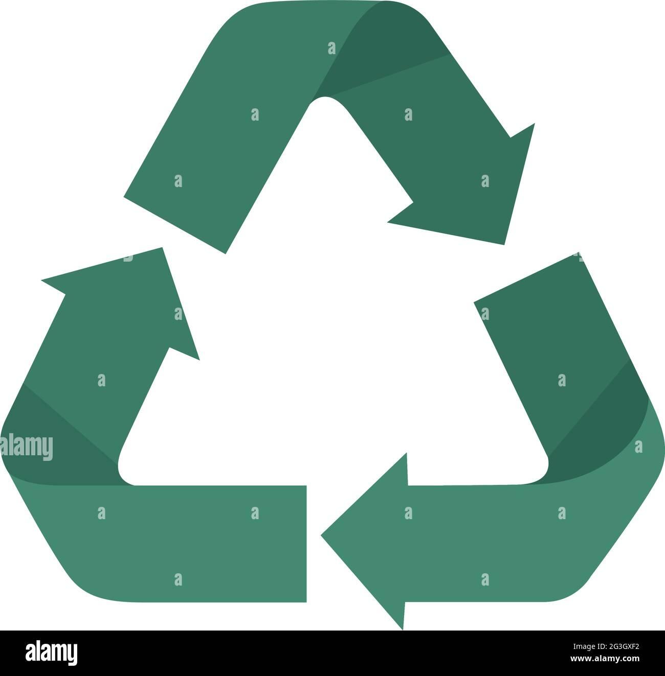 Conception symbole de recyclage Illustration de Vecteur