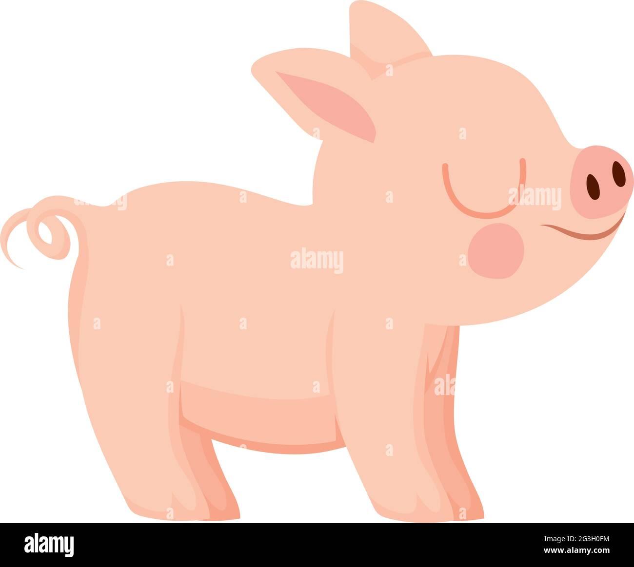 joli motif piggy Illustration de Vecteur