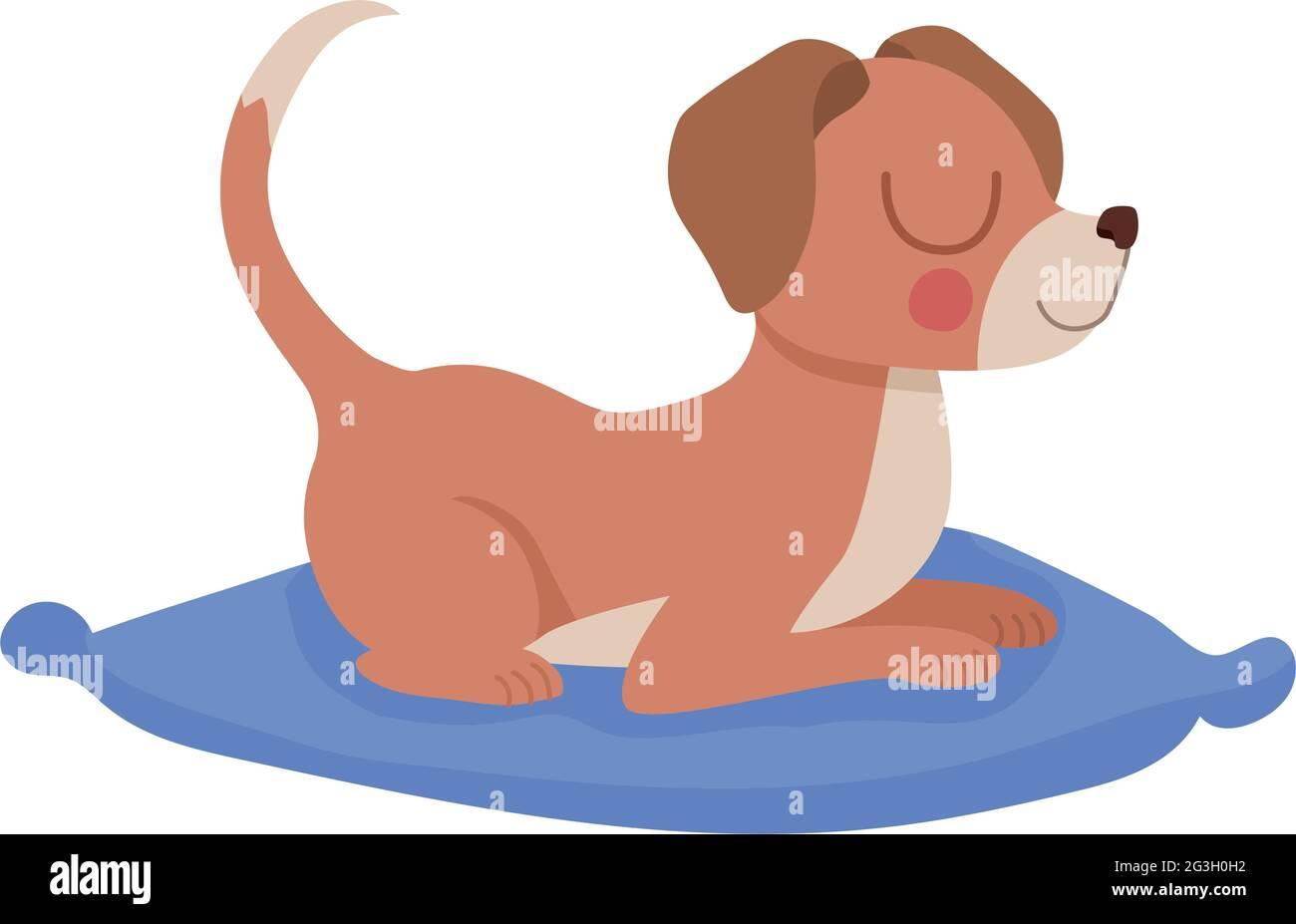 joli chien de repos Illustration de Vecteur