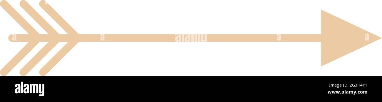 flèche or boho Illustration de Vecteur