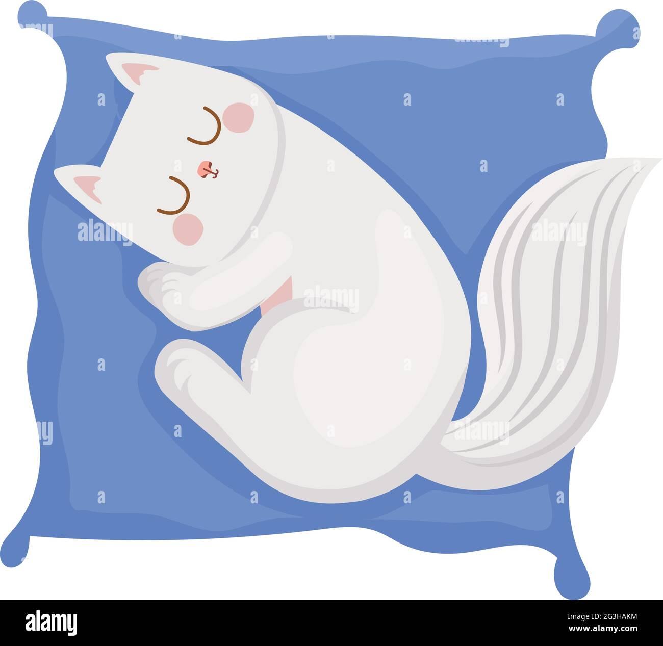 joli chat reposant Illustration de Vecteur