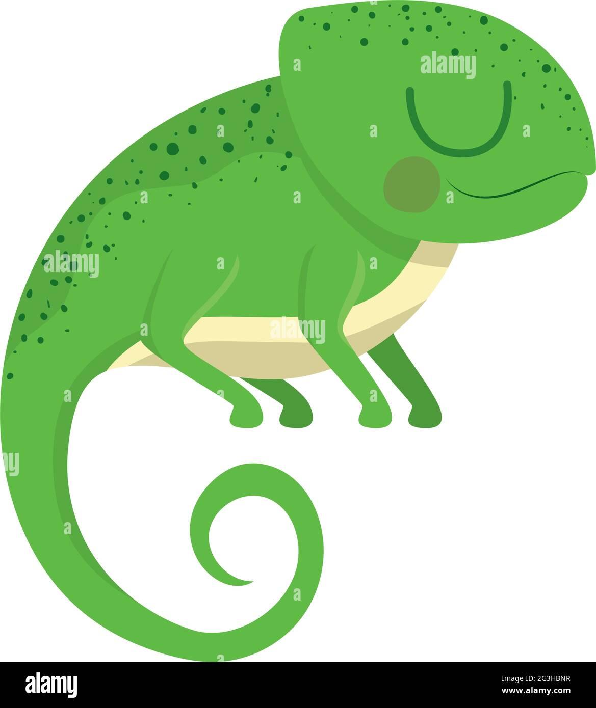 joli motif iguana Illustration de Vecteur