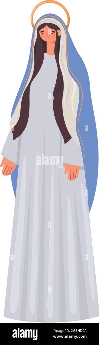 figure de sainte marie Illustration de Vecteur
