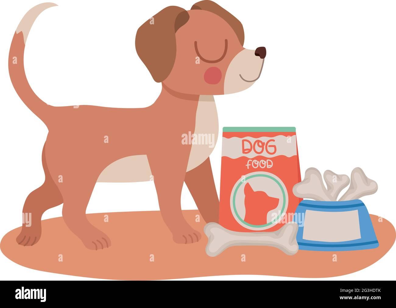 chien marron souriant Illustration de Vecteur