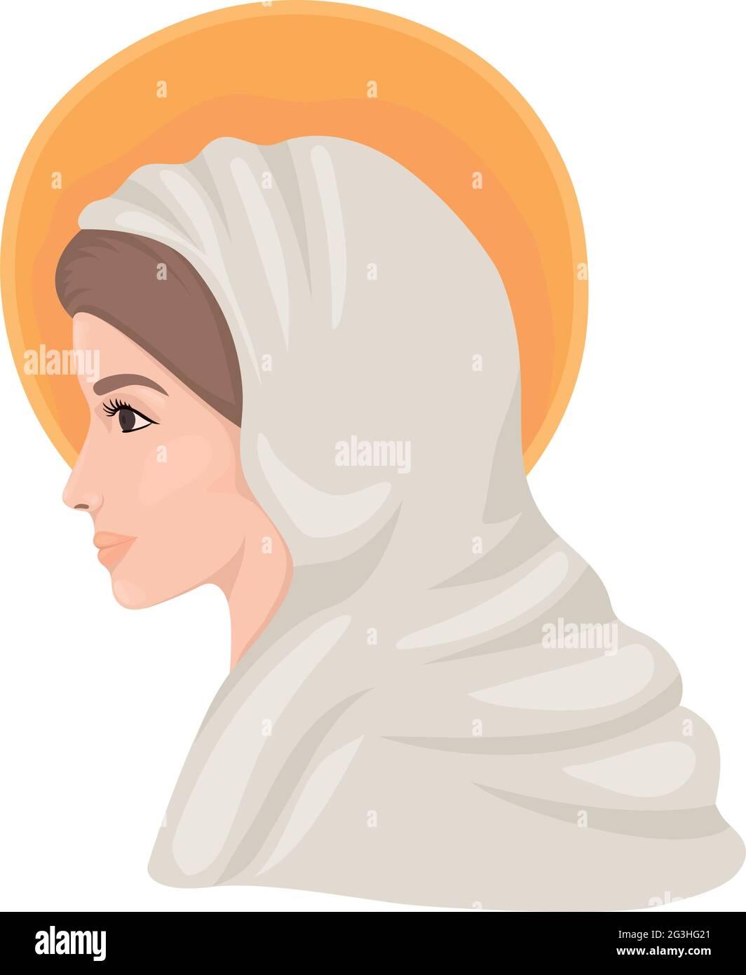 conception de la sainte marie Illustration de Vecteur