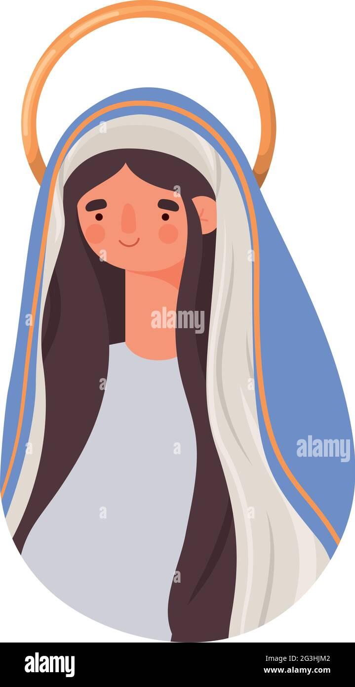 caractère de sainte marie Illustration de Vecteur