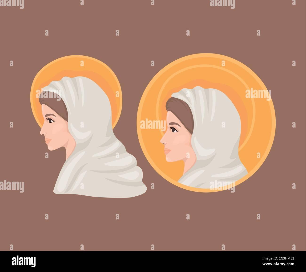 illustration de marie sacrée Illustration de Vecteur