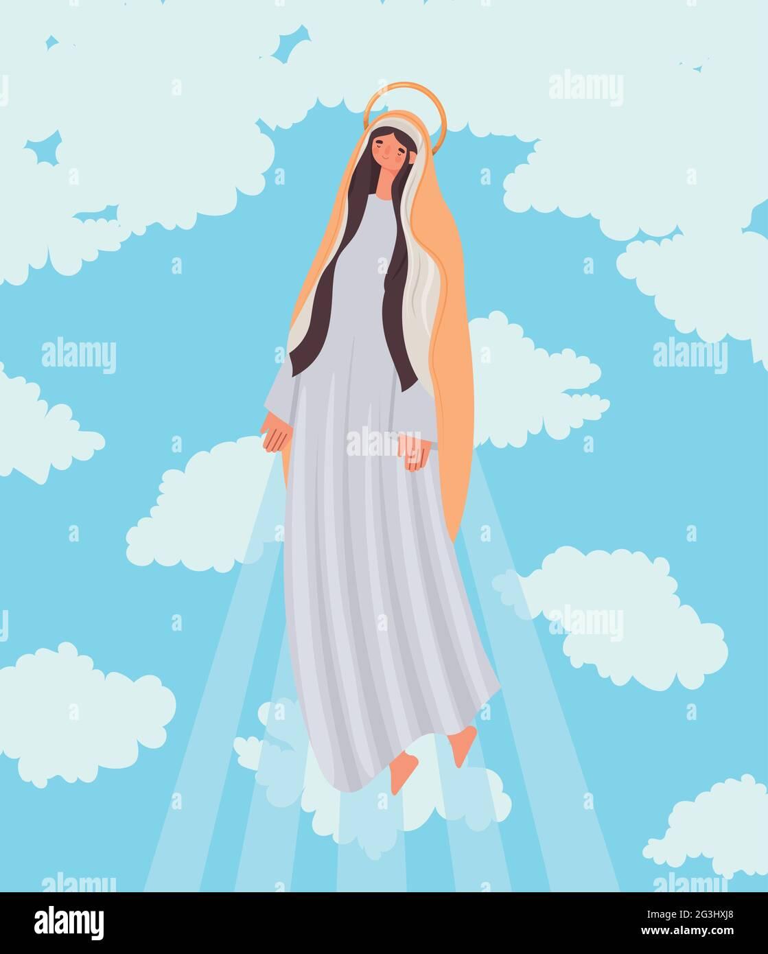illustration de la sainte marie Illustration de Vecteur