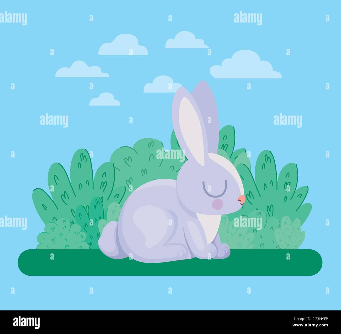 jolie illustration de lapin Illustration de Vecteur