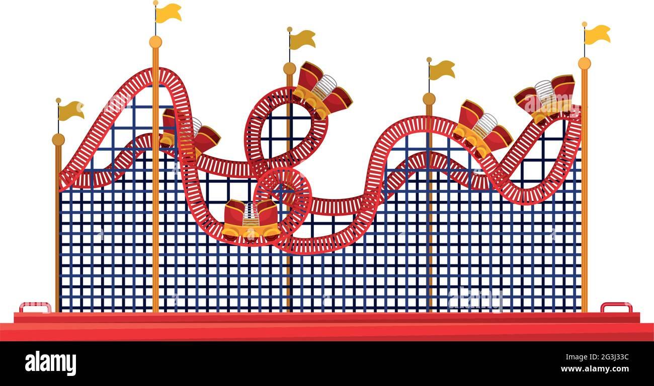 illustration des montagnes russes Illustration de Vecteur